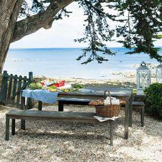 banquette d 39 ext rieur teck marie galante jardin. Black Bedroom Furniture Sets. Home Design Ideas
