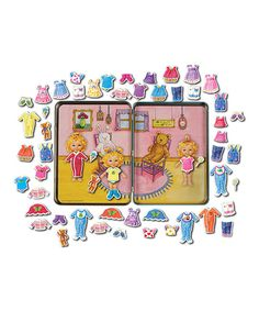 Look at this Teeny Tiny Triplets Magnetic Doll Set - my kids love these magnet sets and they are great for on the go.