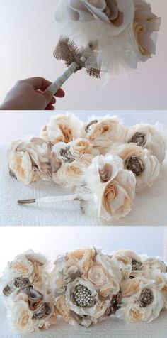 Beautiful bouquets! except with seashells and crystals