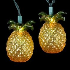 Amazon.com: Set of 10 Beach Party Tropical Golden Pineapple Christmas Lights - Green Wire: Home & Kitchen