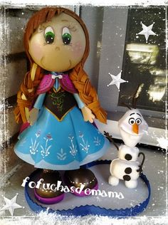 Fofuchas Frozen Frozen Crafts, Frozen Art, Anna Frozen, Frozen Wreath, Frozen Ornaments, Christmas Ornaments, Sand Crafts, Foam Crafts, Frozen Slime