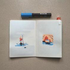 #arradon #sketchbook #poscaart #posca #illustration by tomhaugomat