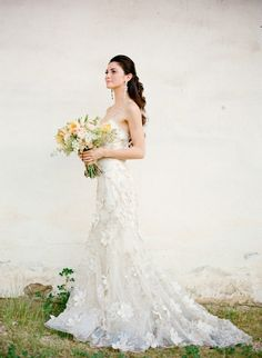 Claire Pettibone 'Flora' wedding gown oh one more view Claire Pettibone, Bridal Gowns, Wedding Gowns, Wedding Bride, Diy Wedding, Wedding Reception, Perfect Wedding, Dream Wedding, Wedding Styles