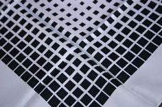Vintage Black & White Graduated Squares Ladies by GillardAndMay