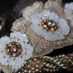 Браслет.Авторская вышивка.#вышивка #бисер #пайетки #beads_embroidery #embroidery…