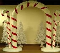 candy cane christmas themecan make these using pool noodles