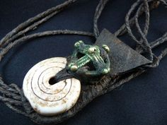 Africa, Old Tuareg Talisman - Shell and Dogon Bronze on Leather - Mali | eBay