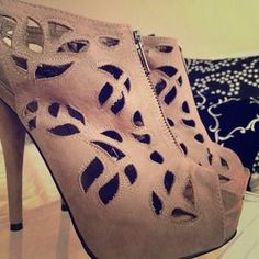 Sole Society Shoes - Gorgeous Cut-Out Nude Stiletto Heels