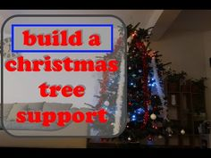 Build a christmas tree support using only scrap wood. I build this christmas tree stand in about a hour whit paint drying. If you need a christmas tree stand. Tree Support, Christmas Tree, Building, Youtube, Diy, Painting, Teal Christmas Tree, Bricolage, Buildings