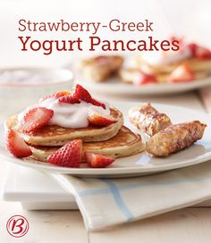 Power up your pancake routine with strawberry Greek yogurt pancakes ...