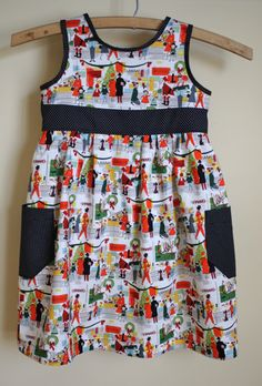 """""""Merry Main Street"""" by Alexander Henry (Joann's) Blogger said tutorial is coming soon for the adorable dress too."""