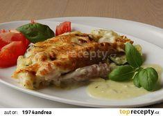 Zapečený chřest s brambory a cuketou recept - podobný s bešamelem French Toast, Meat, Chicken, Breakfast, Food, Morning Coffee, Essen, Meals, Yemek