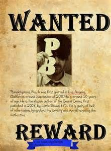pseudonymous bosch real name. pseudonymous bosch - wanted poster for the author p. real name