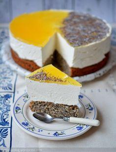 Mákos-narancsos torta Cheesecake, Poppy, Muffins, Pies, Cakes, Bread, Food Recipes, Cheesecakes, Poppies