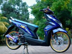 Image may contain: motorcycle and outdoor Satria Fu, Scooter Custom, Drag Bike, Z Arts, Kawasaki Ninja, Drag Racing, Jdm, Cars And Motorcycles, Honda