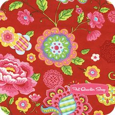 Gypsy Girl Scarlet Red Gypsy Bloom Yardage SKU# 11460-16 - Fat Quarter Shop