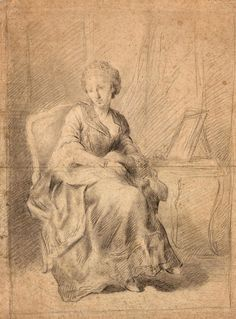 Allan Ramsay   1713-1784   Portrait of a Lady Seated beside her Dressing Table   The Morgan Library & Museum