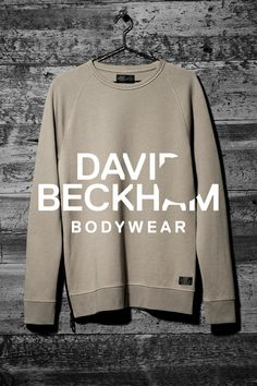 The ultimate in cool comfort. Beige sweatshirt with side zips, Bodywear Selected By Beckham collection. | H&M For Men
