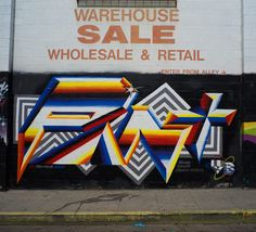 Los Angeles (California) street art series by Spanish artist Felipe Pantone, aka PANT