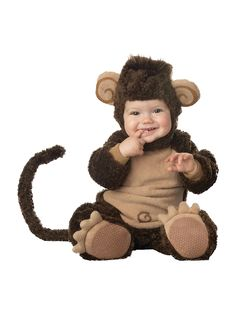Our lil monkey infant costume is perfect for climbing around this Halloween season! We have monkey costumes for infants that are great for a baby's first Halloween. Check out all of our baby costumes. Baby Monkey Costume, Cute Baby Halloween Costumes, Baby Costumes For Boys, Halloween Bebes, Monkey Costumes, Toddler Costumes, First Halloween, Cute Costumes, Animal Costumes