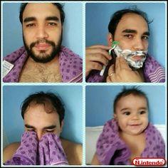 Fazendo a barba