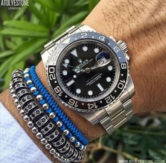 Men's Accessories, Mens Clothing Guide, Rolex Gmt Master, Estilo Fashion, Handmade Copper, Luxury Watches For Men, Bracelets For Men, Rolex Watches, Bracelet Watch