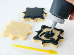 chalkboard decorated cookies   stamped chalkboard art cookies step 1