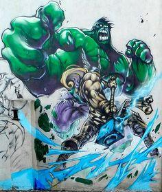 Hulk & Thor by Probs  foto por Myriam JC Preston