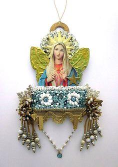 Assemblage de Art religieux Art Mixte décor de Par JeepersKeepers