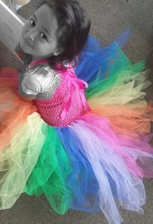 The perfect tutu for any rainbow lover - these can be short or long. Rainbow Tutu, Happy Girls, Dresses, Fashion, Tutus, Vestidos, Moda, Fashion Styles, Dress
