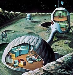 Moon base, Sci-Fi, Space Future