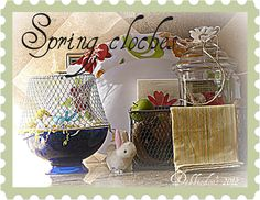 Decorating with Cloches for Spring. cloche from the dollar tree Welcome Spring, Dollar Tree Crafts, Trash To Treasure, Create And Craft, Decorating On A Budget, Dollar Stores, Painted Furniture, Repurposed, Projects