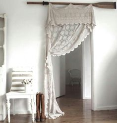 8 Enormous Tips AND Tricks: Old Lace Curtains curtains design.Curtains Design layered curtains one rod. Crochet Curtains, Lace Curtains, Crochet Tablecloth, Window Curtains, Roman Curtains, Patterned Curtains, Drapery, Layered Curtains, Purple Curtains