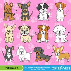 Dog Digital Clipart Dog Clipart Puppy Clipart Puppy by Cutesiness