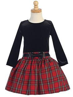 Girls Christmas/Holiday Long Sleeve Velvet and Plaid Dress (6, Black/Red) Lito http://www.amazon.com/dp/B00OVG5PJK/ref=cm_sw_r_pi_dp_mmluwb1Q9N3G1