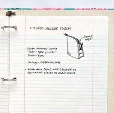 Zip A Bag Chapter 20: Zippered Marker Pouch (ikat bag)