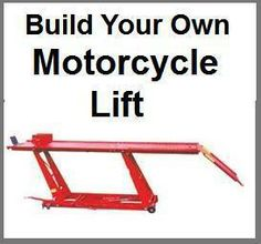 Motorcycle Lift Workbench DIY Construction Instructions Harley Honda Yamaha Etc