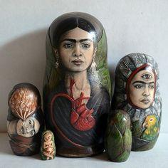 ∷ Variations on a Theme ∷ Collection of Frida Kahlo Matryoshka Dolls