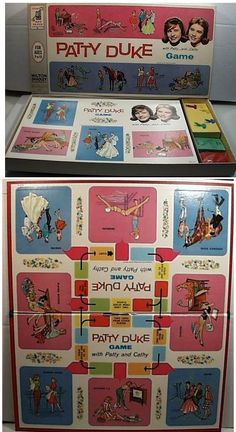 Vintage 1964 PATTY DUKE Television Show Family Board Game by Milton Bradley