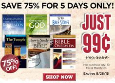 Special! 99cent Pamphlet Blowout Sale - Shop Now to Save 75% on Rose Bestsellers - Rose Publishing