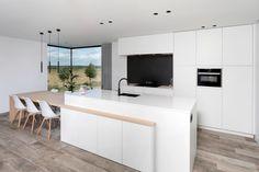 Open Plan Kitchen Living Room, Kitchen Room Design, Open Kitchen, Modern Kitchen Design, Kitchen Decor, Kitchen Island Dining Table, Dream Home Design, Cuisines Design, Küchen Design
