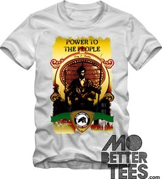 Black Panther Party White T-Shirt Power To The People Malcolm X Huey P. Newton by MoBetterTs on Etsy