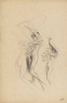 Study of Dancing Nudes. Giovanni Boldini
