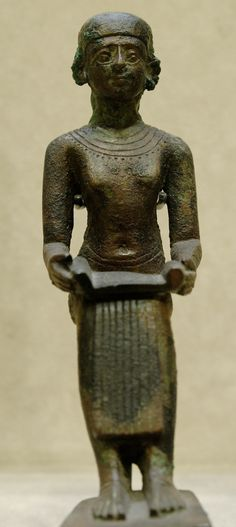 Imhotep~Louvre~ He is credited as the first pyramid architect, who built Djoser's Step Pyramid complex at Saqqara.
