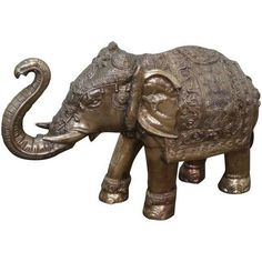 Vintage Brass Asian Elephant Statue ($995) ❤ liked on Polyvore featuring home, home decor, figurines, brass statues, elephant home accessories, brass elephant statue, elephant statues and elephant home decor