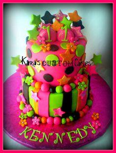 2 tier girl birthday cake. so cool!