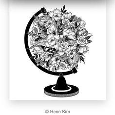 Repost @henn_kim  The world is beautifull  And hides us full of surprises ..       #dessins #hennkim #love #beautifullpainting #discovery #theworld #travellife #travelersnotebook  #paint #flower #flowerday #like4like #lifeisgood #liker #summer #hashtag #adventures #timetochange #
