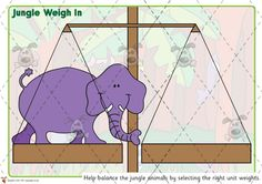 Teacher's Pet - Jungle Place Value Weighing Game - Premium Printable Classroom Activities and Games - EYFS, KS1, KS2, rumble, weights, compare, balance, scales, ordering, numbers, HTU