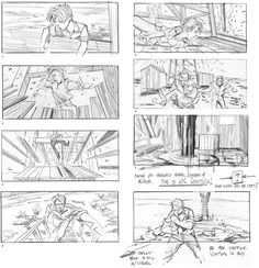 Storyboards by Kevin MacCarthy for Paul Thomas Anderson's There Will Be Blood.