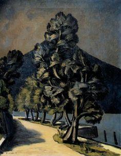 Vittorio Viviani, Olive Trees, oil on canvas, 100x50cm, 1956.